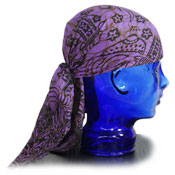 purple batik bandana